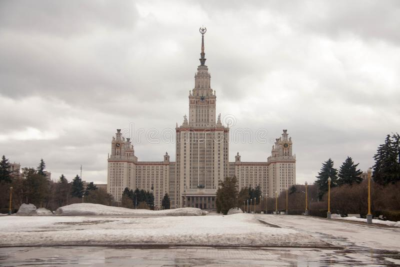 View on the sights of Moscow. At the beginning of spring stock photos
