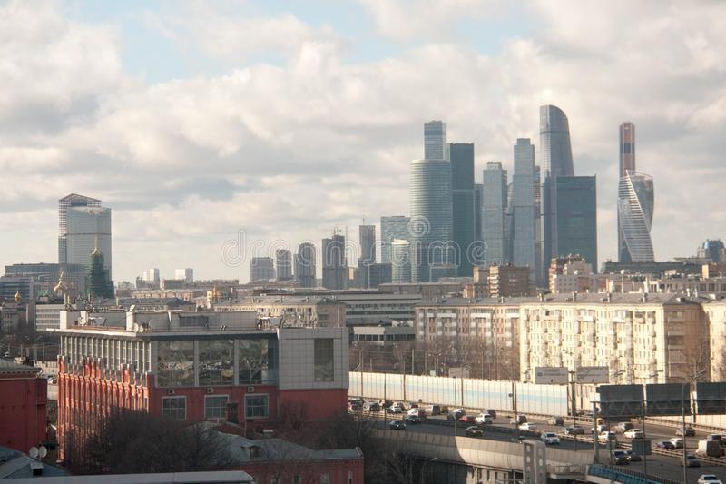 View on the sights of Moscow. At the beginning of spring royalty free stock images