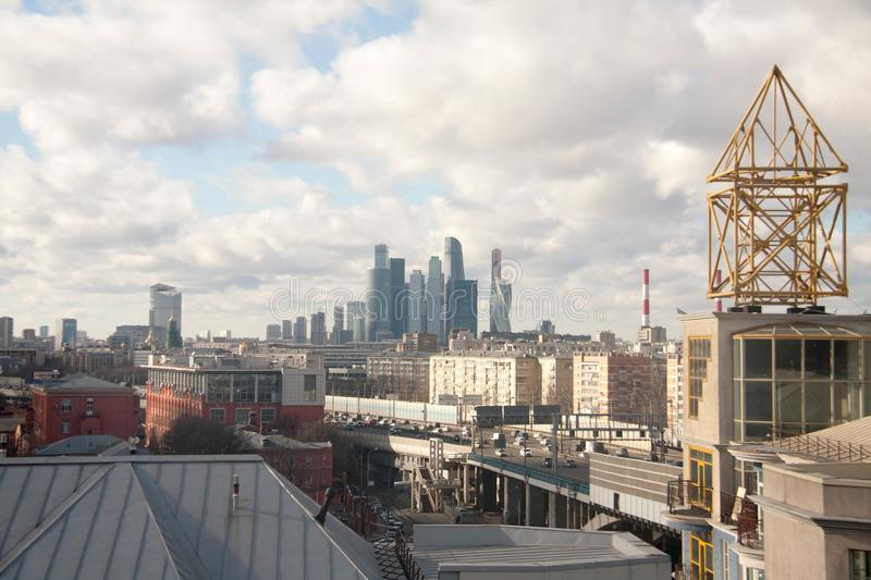View on the sights of Moscow. At the beginning of spring royalty free stock photo