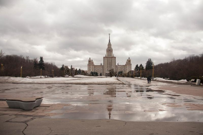 View on the sights of Moscow. At the beginning of spring stock photography