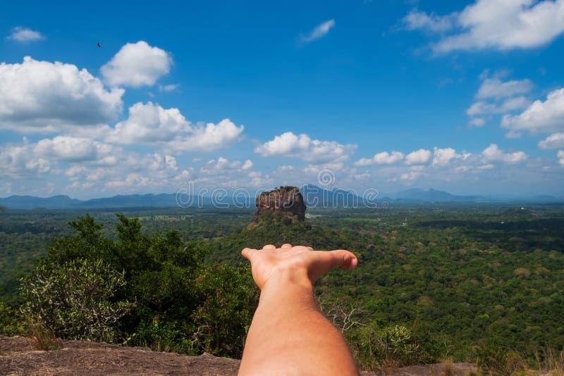View on Sigiriya Rock Lion Rock . stock images