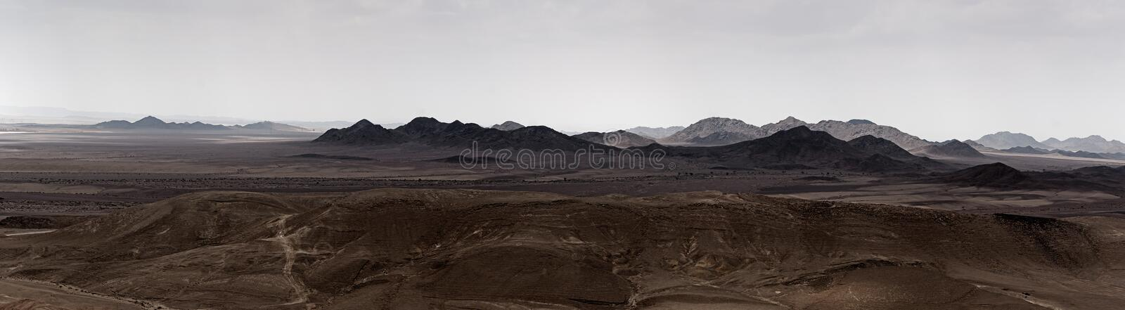 View of Sinai from Israel. Panoramic view of Sinai from Israel Egypt border line stock photography