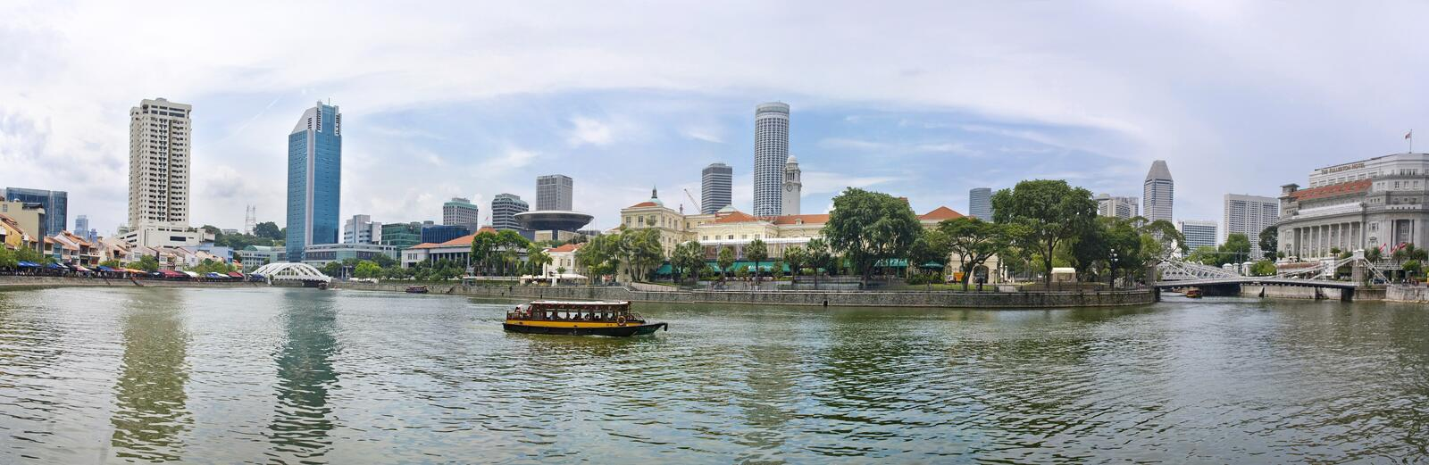 View Of Singapore City Editorial Photography