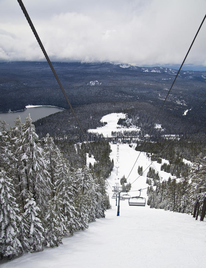 Download View Of Ski Slopes From Lift Stock Image - Image: 22269179