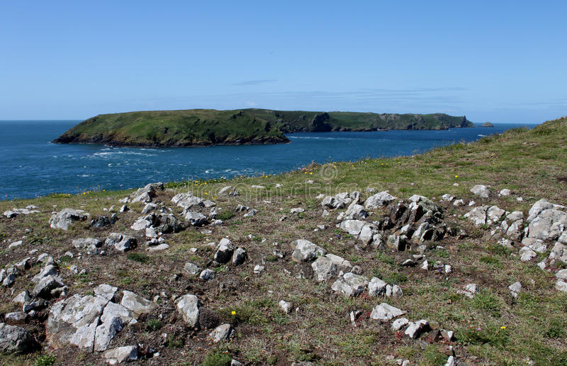 Download View Of Skomer Island From Pembrokeshire Headland Stock Image - Image: 46866393