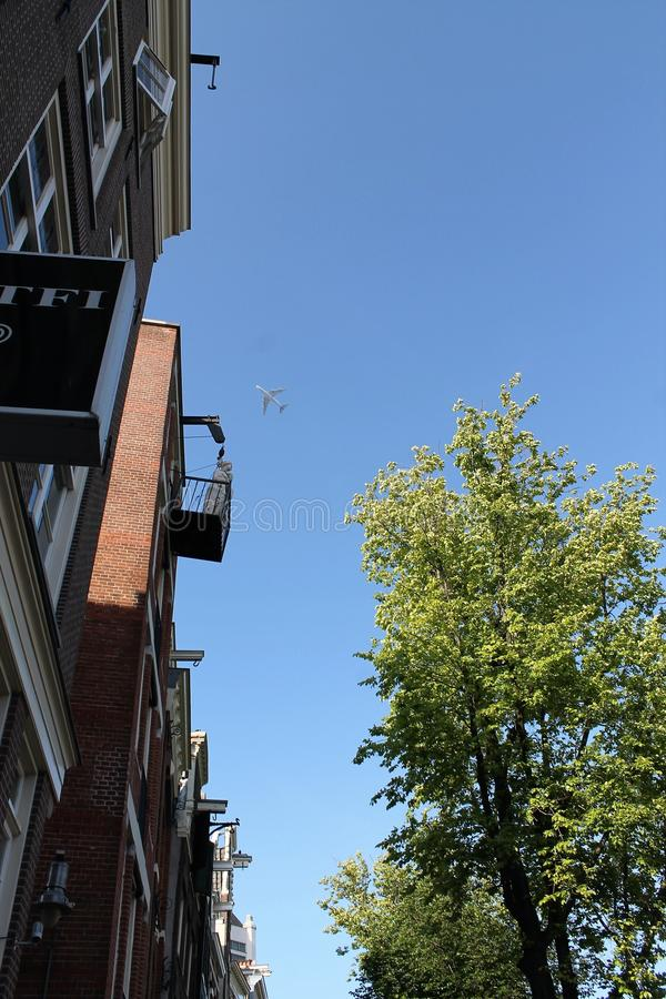 View of the sky in Amsterdam royalty free stock photo