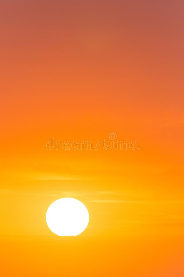 View on sky at sunrise. View on colorful sky at sunrise royalty free stock photos