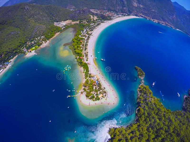 A view from sky to deathsea royalty free stock image