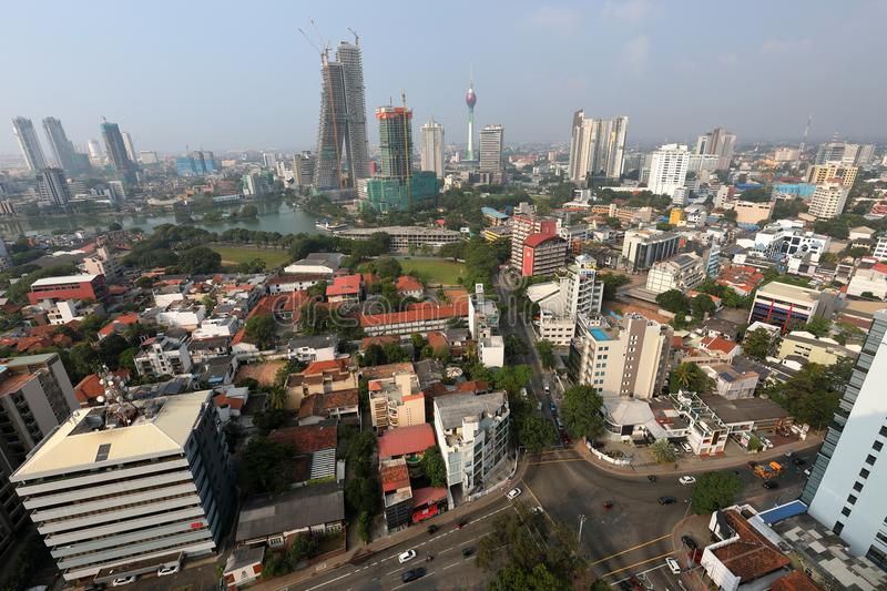 Skyline of Colombo stock images