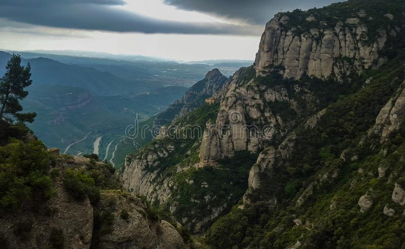 View from Montserrat stock photos