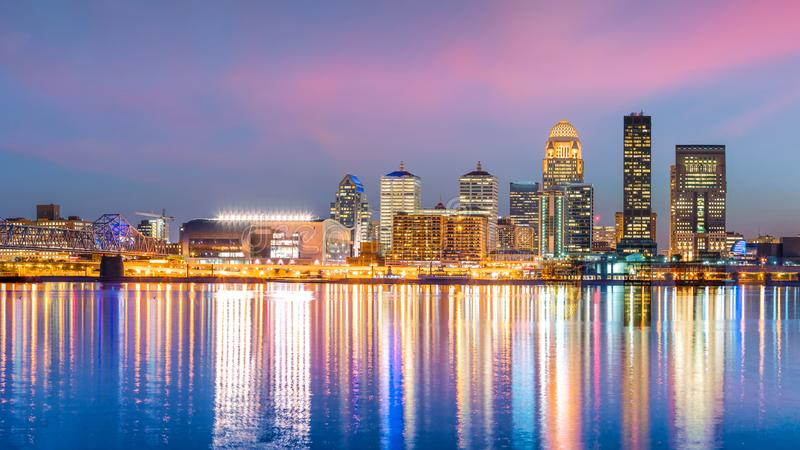 View of Skyline downtown Louisville royalty free stock image