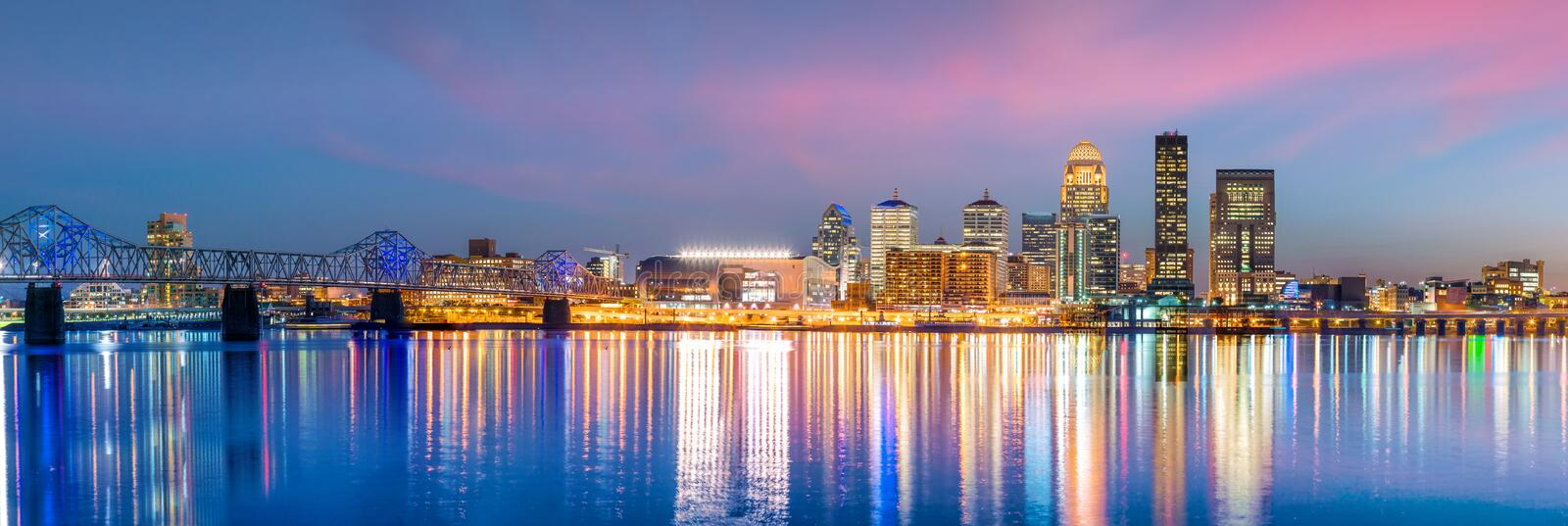 View of Skyline downtown Louisville royalty free stock photography