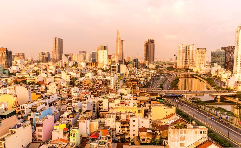 View of the skyline of Ho Chi Minh City during the day royalty free stock photos