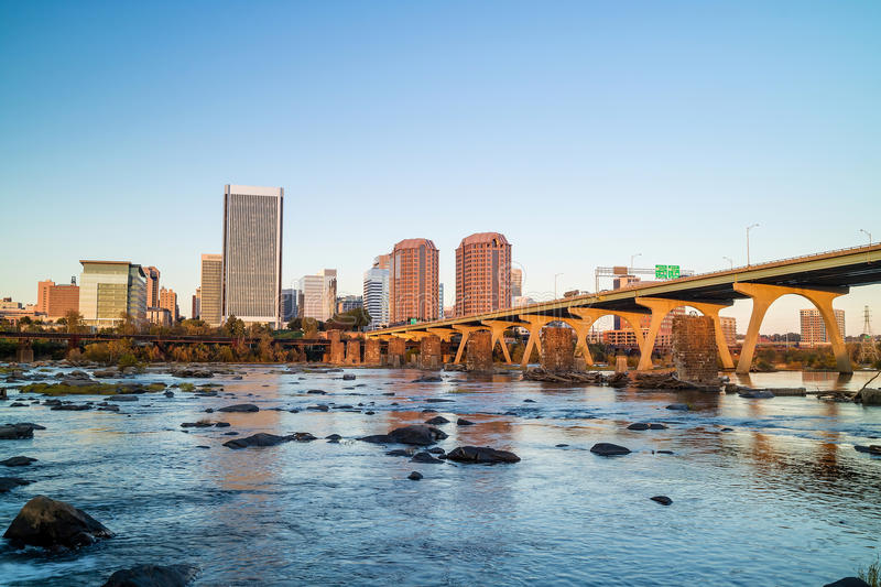 View of the skyline in Richmond, Virginia. stock photo