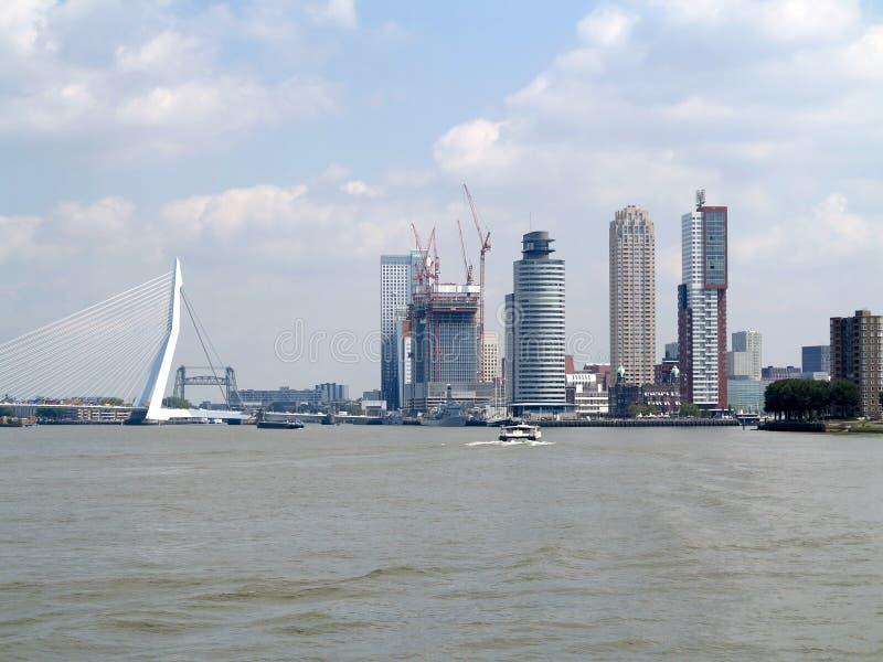 View On Skyline Rotterdam Royalty Free Stock Photo