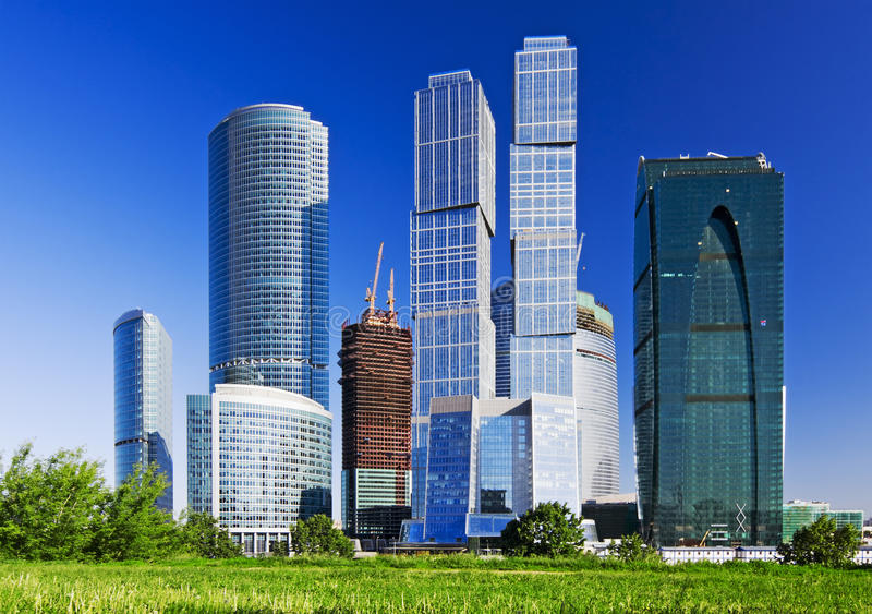 View of the skyscrapers royalty free stock image
