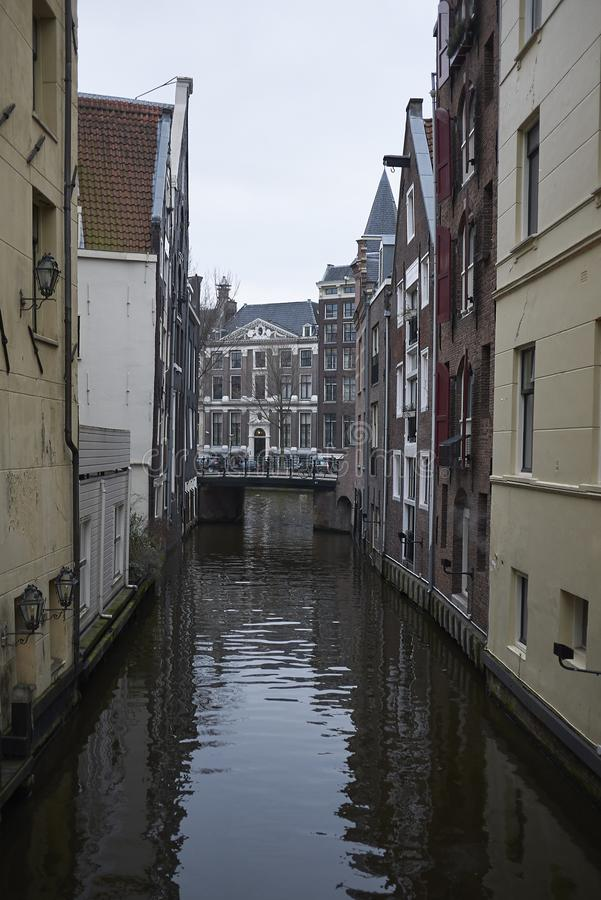 View of a small canal stock images
