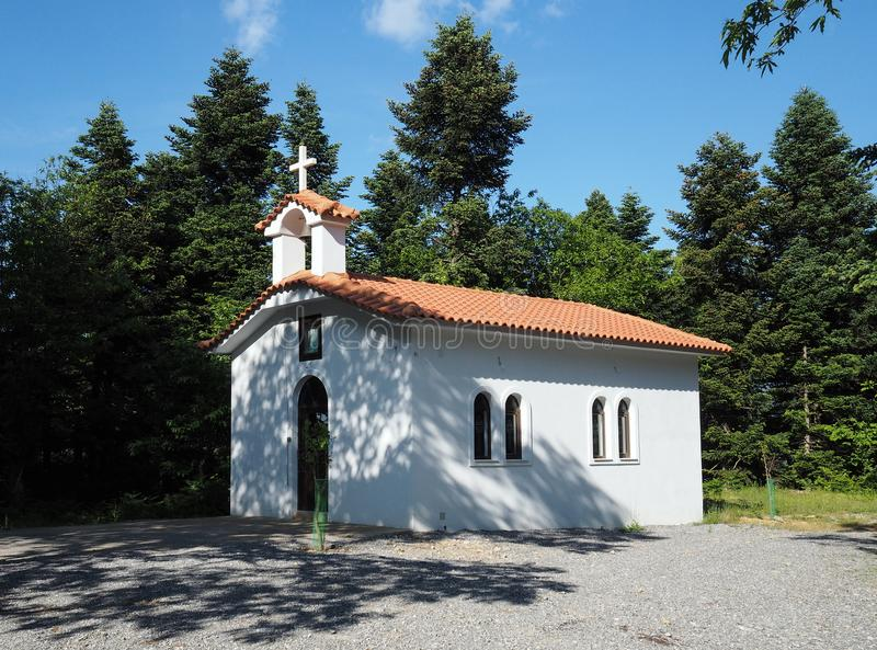 Church of Santa Irene in the Evia region of Greece. View of a small and characteristic Orthodox Church of Santa Irene in the Evia region of Greece royalty free stock images