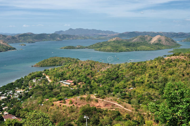 View on the small islands of Philippines royalty free stock photo