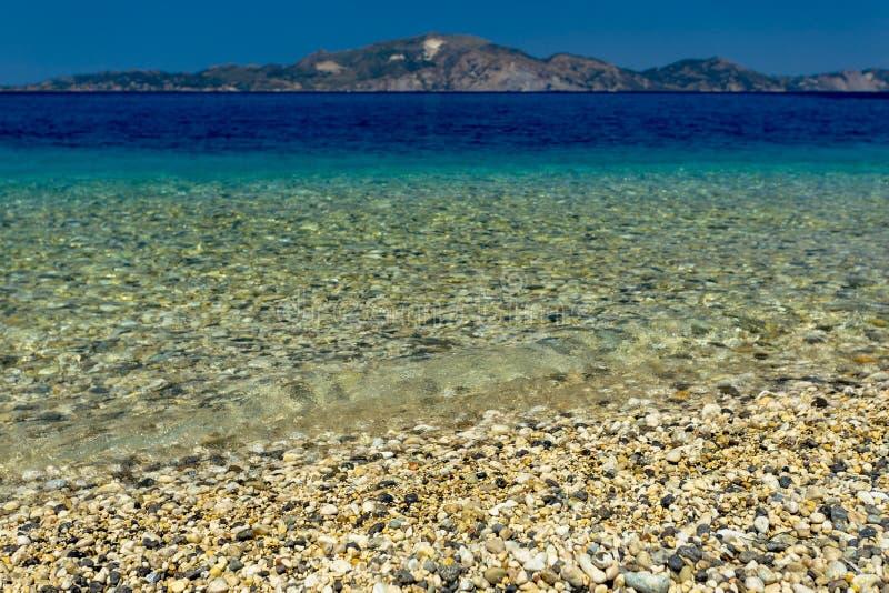 Small Pebble Beach on Zakynthos royalty free stock images