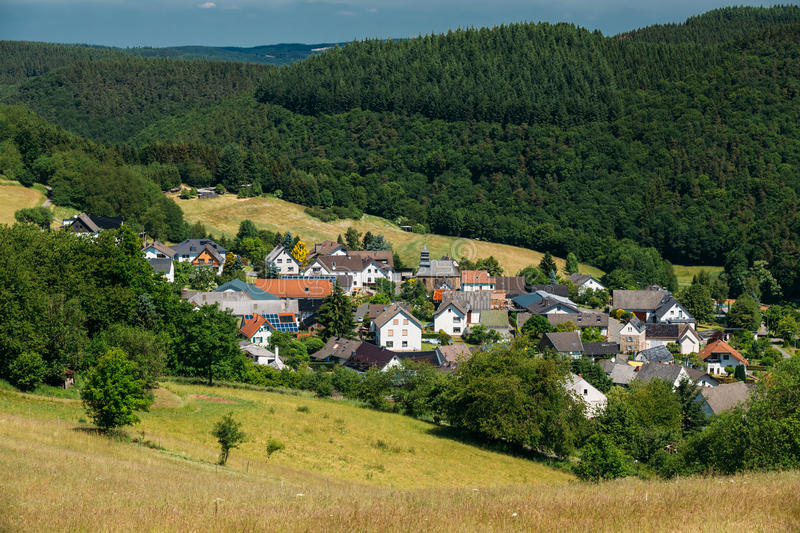 View Of Small Picturesque Village In Germany stock images