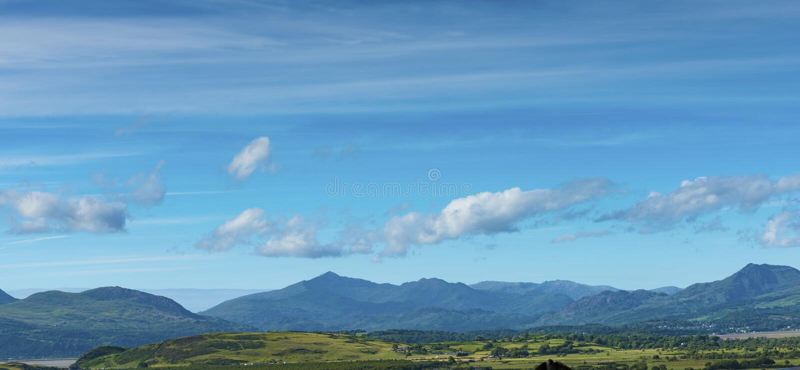 View of Snowdon Mountain stock photo
