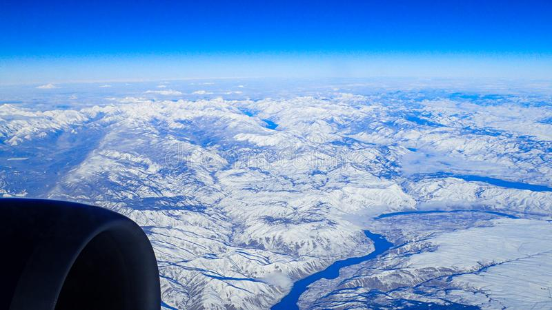 View of the snowy Pacific northwest stock photo