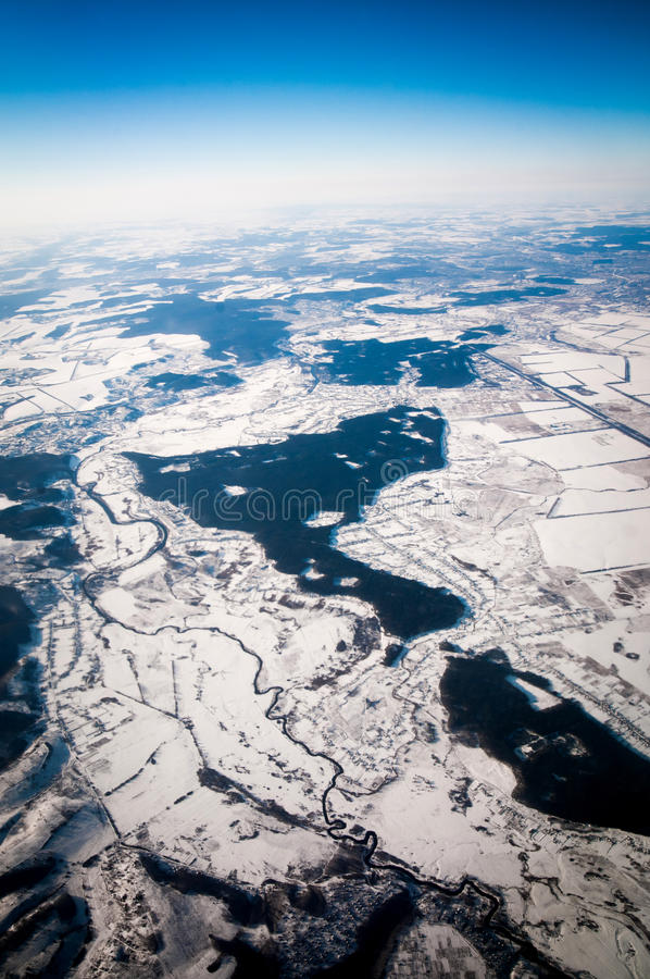 View Of The Snowy Plain Royalty Free Stock Photo