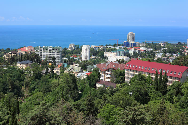 Download View on Sochi stock image. Image of observation, housetop - 11009229