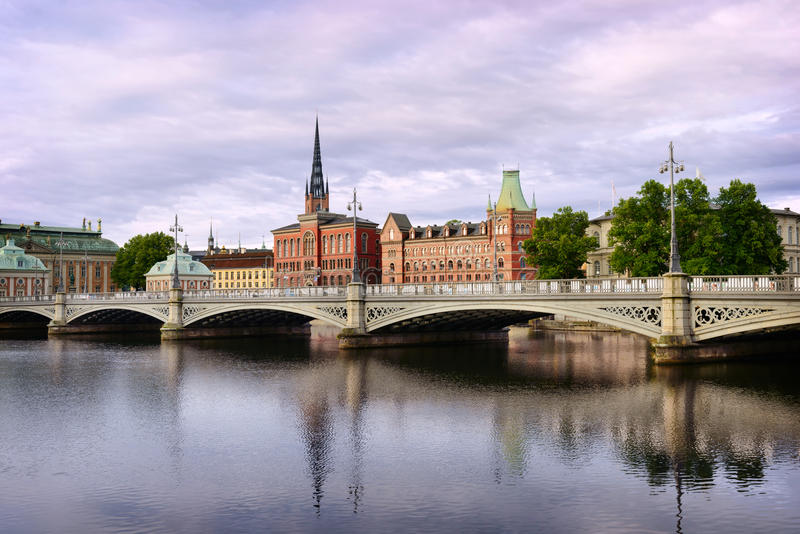 View on Sodermalm district. Stockholm. Sweden. Sw royalty free stock photos