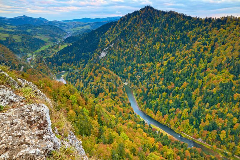 River between mountains. Pieniny National Park royalty free stock photos