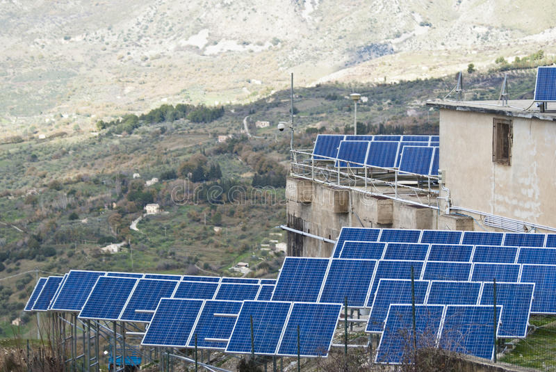 Download View Of Solar Panels In The Madonie Mountains Stock Photo - Image: 29744280