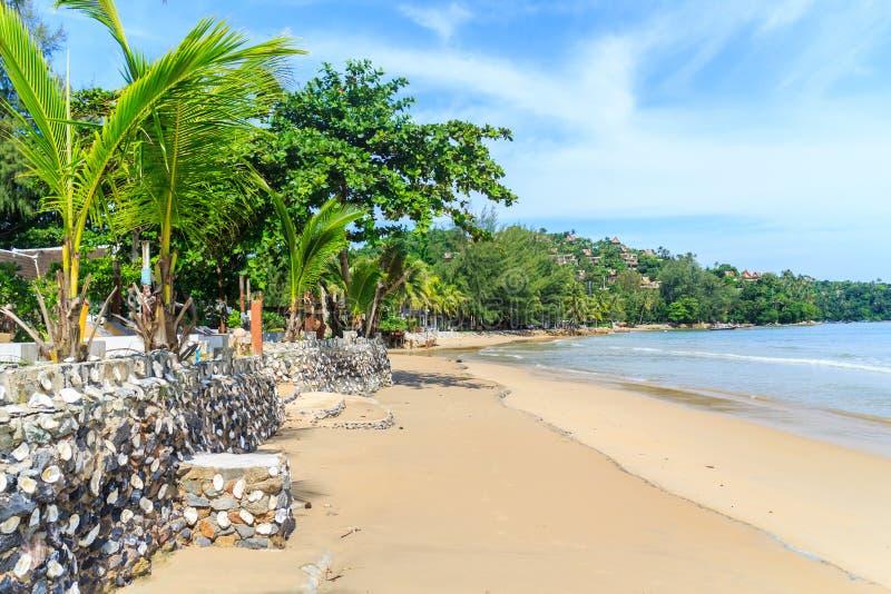 View of the southern end of Bang Tao beach. Phuket, Thailand stock image