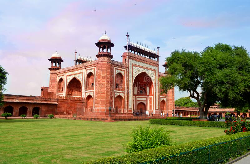A view of southern gate of Taj Mahal , Agra,India royalty free stock photography