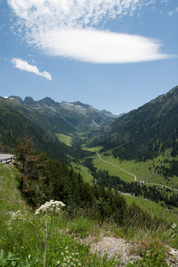 View of spain Pyrenees stock image