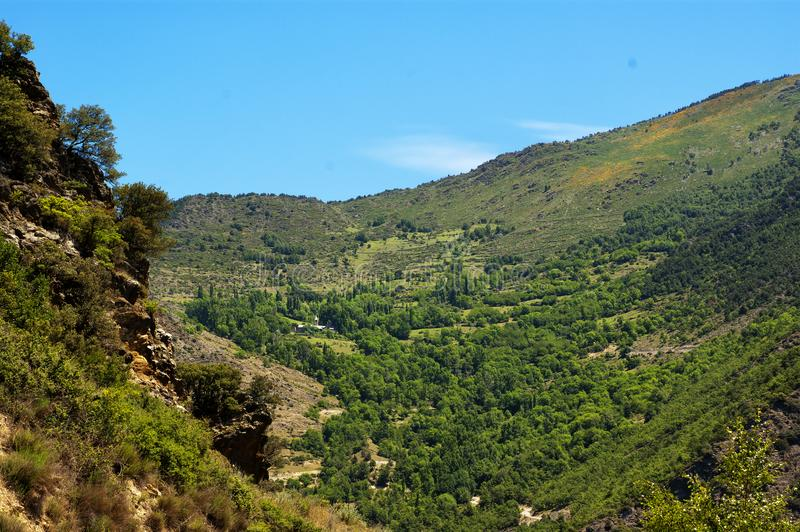 View of spain Pyrenees royalty free stock photo