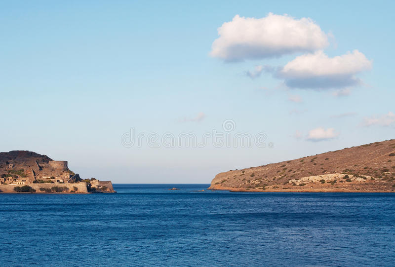 View of Spinalonga island stock photos