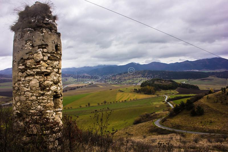 A view from the Spis Castle stock photos