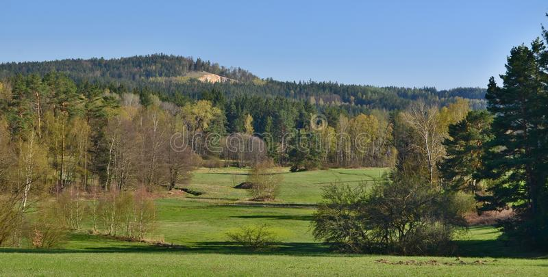 View spring landscape, southern Bohemia, Czech Republic. Spring landscape, southern Bohemia . Czech Republic stock images