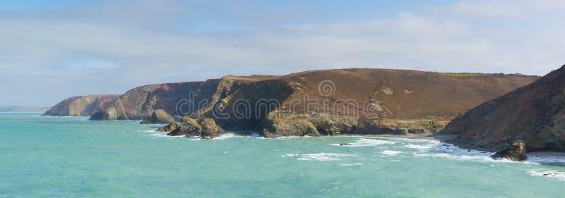 View Of St Agnes Coast Cornwall England UK Stock Photo