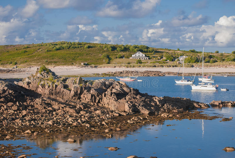 View of St. Agnes, Isles of Scilly stock photos