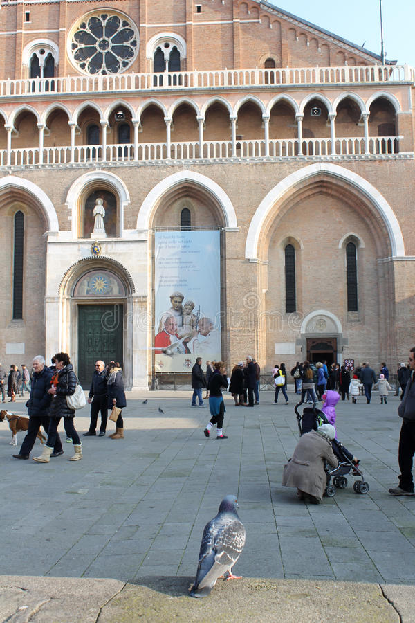 A view of St. Anthony Basilica on Sunday - Padua, Italy stock photography
