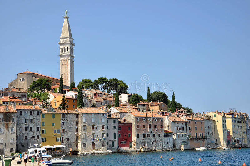 View of St Eufemi church in Rovinj royalty free stock photography