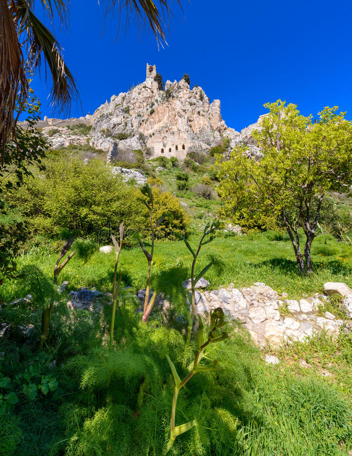 View of St. Hilarion castle near Kyrenia 8 royalty free stock photos