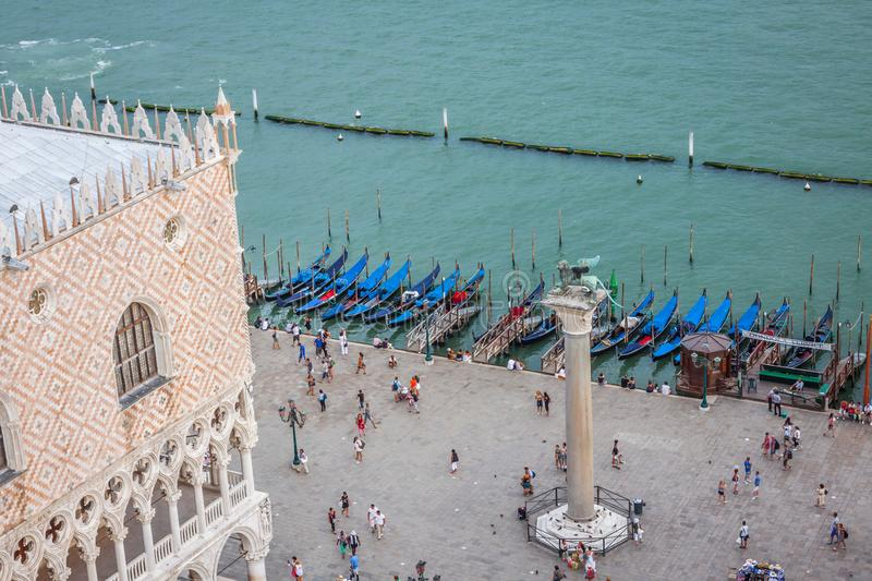 View of St Mark`s Square in Venice, Italy royalty free stock photos