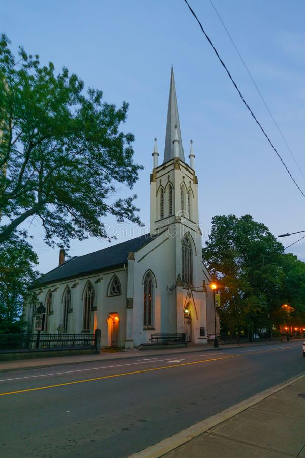 St Matthews United Church, in Halifax. View of the St Matthews United Church, in Halifax, Nova Scotia, Canada stock photography