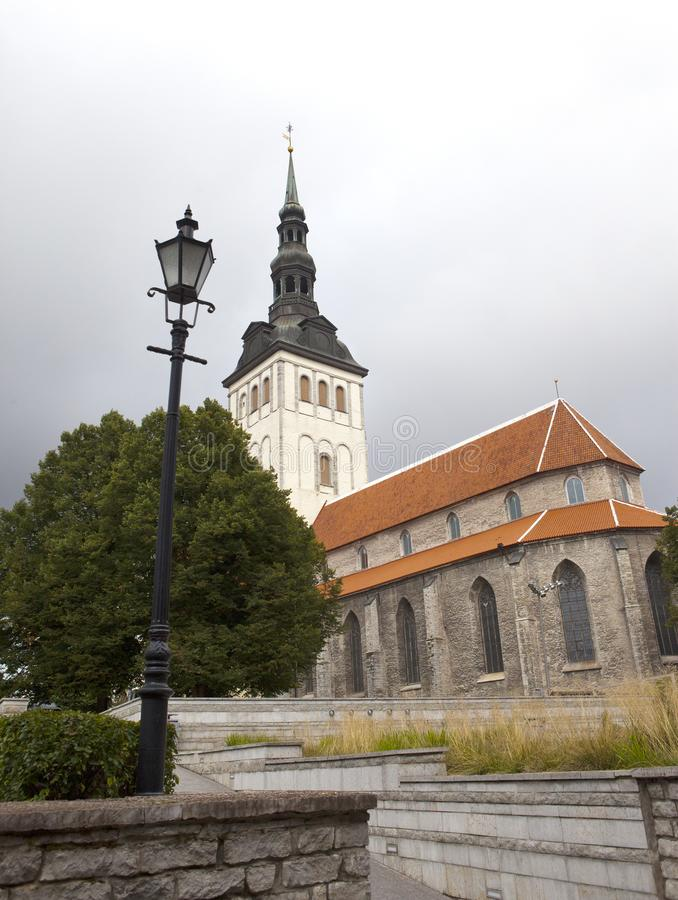 View on St. Nicholas Church Niguliste. Old city, Tallinn, Estonia royalty free stock image