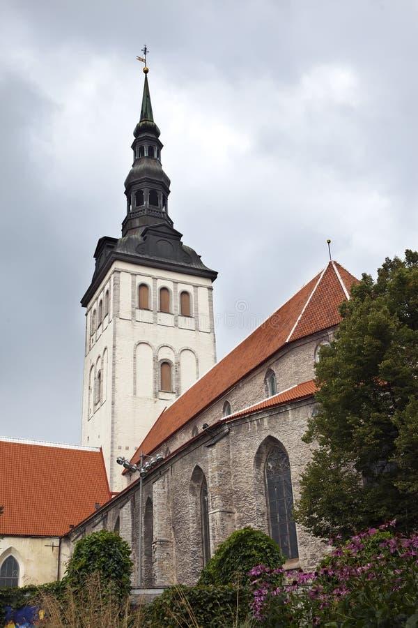 View on St. Nicholas Church Niguliste. Old city, Tallinn, Estonia royalty free stock photo