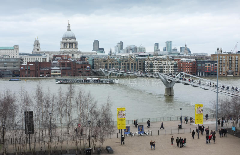 London skyline and St Paul's Cathedral stock photos