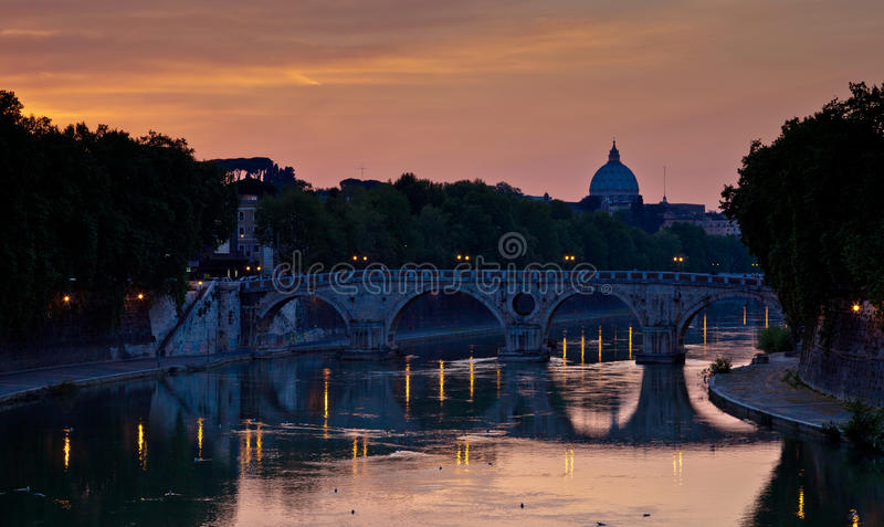 View Of St. Peter S Basilica And The Vatican City Royalty Free Stock Photography